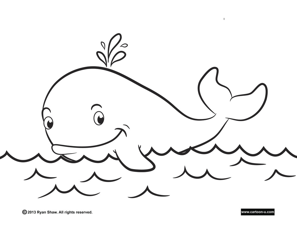Coloring Pages For Whales : Blue whale coloring pages
